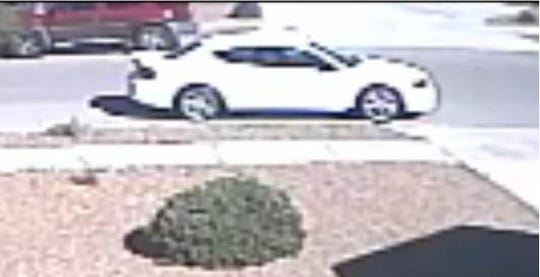 A child took a package from a Canutillo residence March 14 and entered this vehicle, captured on video surveillance.