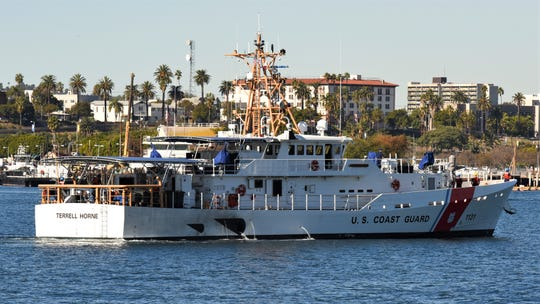 The Coast Guard Cutter Terrell Horne arrives in San Pedro on Jan. 2. It's the third of four fast-response cutters to be homeported in Los Angeles-Long Beach.