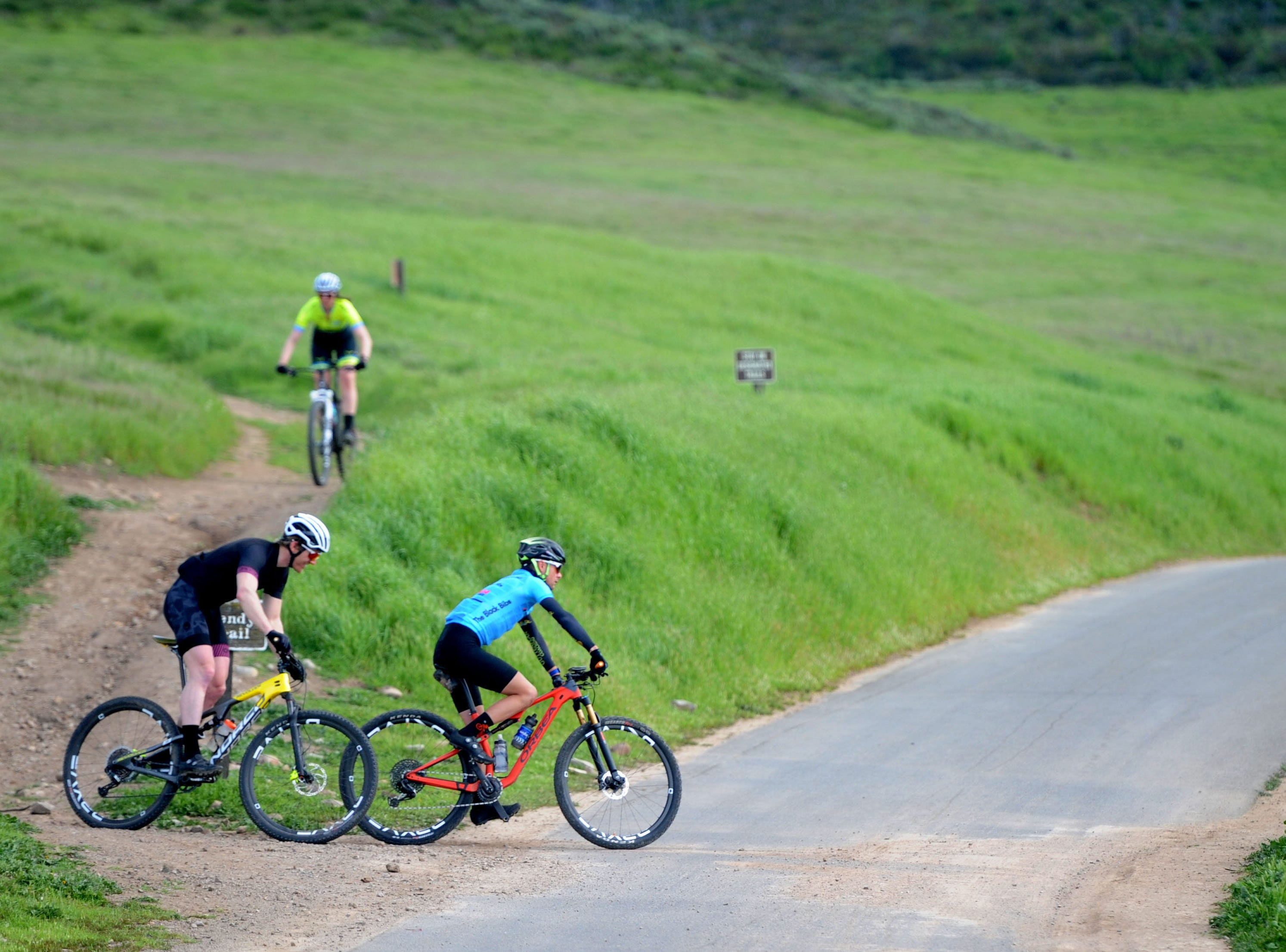 A couple of bikers pedal at Rancho Sierra Vista on a cloudy Wednesday afternoon. A new report ranks Ventura County as the ninth healthiest county in California, partly because of its access to physical activity.