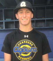 Aaron Suval is 5-0 with a 1.85 ERA on the mound and is batting .400 at the plate for Agoura High.