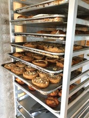 Trays of freshly baked tarts, croissants and other treats are seen at Bakewell House, a pop-up project in Ventura.