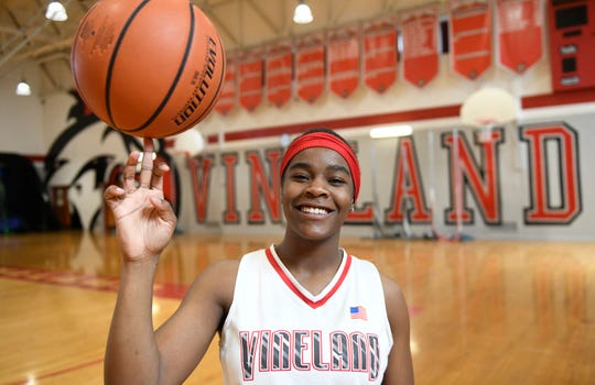 Briel Herbert, a Vineland High School senior, has been chosen as The Daily Journal's girls' basketball Player of the Year.