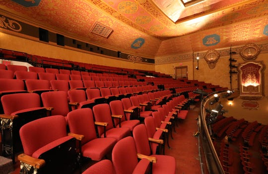 The balcony area interior of the Paramount Hudson Valley Theater in Peekskill, March 21, 2019.