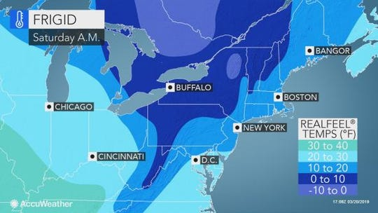 Saturday morning's weather is expected to be cold in the Lower Hudson Valley.