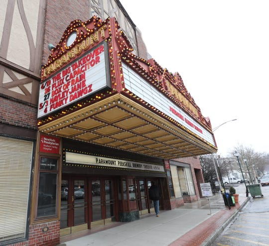 The exterior of the Paramount Hudson Valley Theater in Peekskill, March 21, 2019.