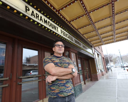 Louis Lanza is pictured outside of the Paramount Hudson Valley Theater in Peekskill, March 21, 2019. The  Lanza Family Foundation is contributing significantly to finance the operations of the 1,100-seat Paramount Hudson Valley theater - which the city of Peekskill owns - through October to ensure that shows go on as scheduled.