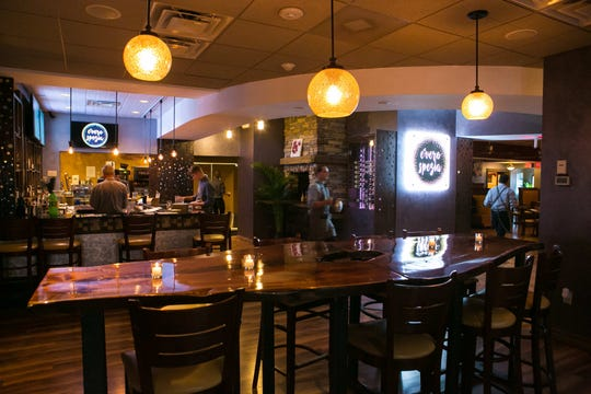 Owners changed the layout at the old Soffritto restaurant when it reopened as Evero Spezia restaurant. The building off Capitol Trail near Newark is up for sale for $2.4 million.