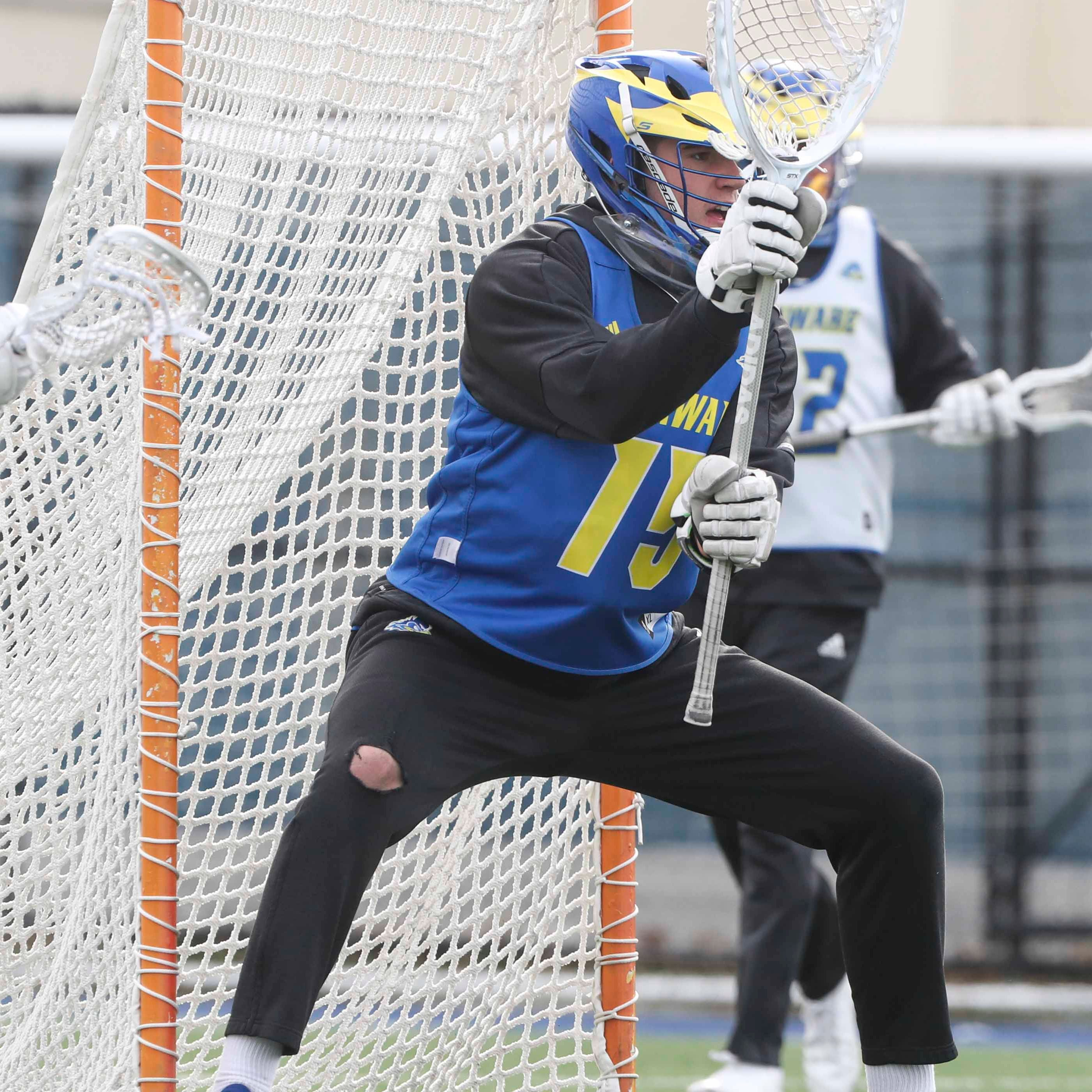 University of Delaware star is a giant among NCAA lacrosse goalies