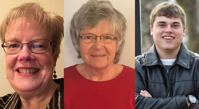 Anne Lee (left), Mary Rayome (middle) and Troy Bier (right)