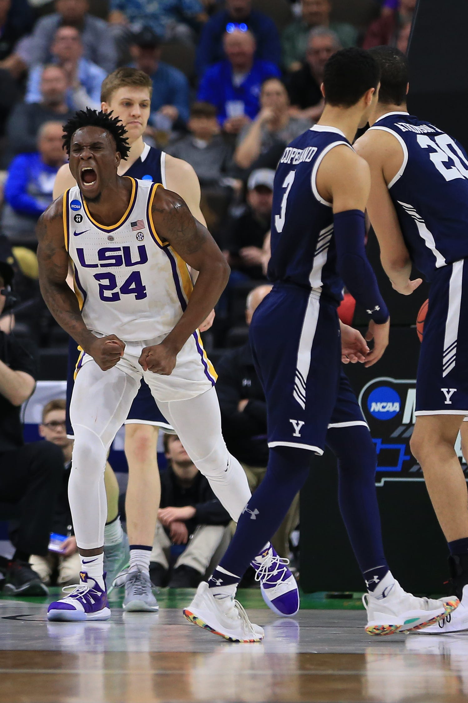 LSU survives Yale and more NCAA tournament action from the first day of March Madness