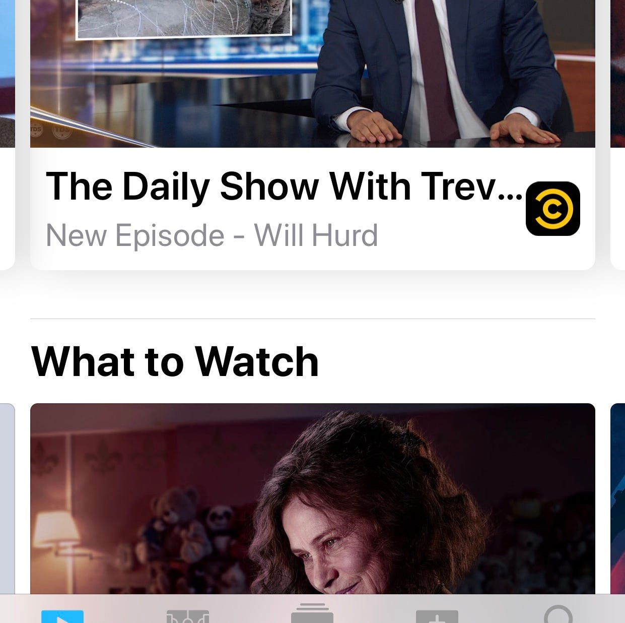 Apple's TV app offers suggestions of what to watch