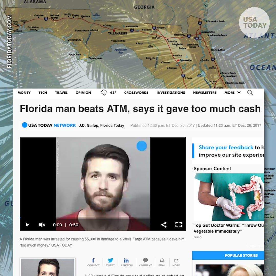 Googling Florida man for the viral birthday challenge? Why there are so many wild crime stories