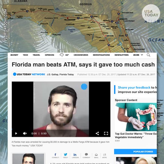 Florida man challenge: Here's why there are so many crazy crime stories from Florida