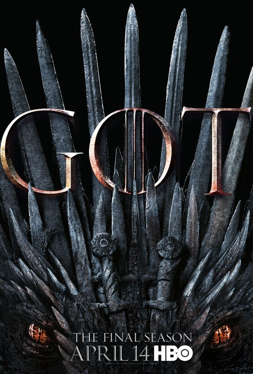 """The final season of """"Game of Thrones"""" arrives on HBO on April 14 (9 EDT/PDT)."""