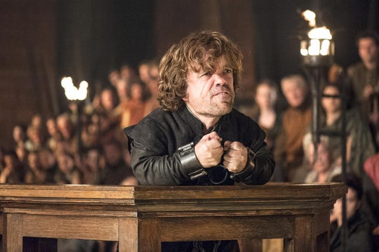 "Peter Dinklage as Tyrion Lannister in ""The Laws of Gods and Men"" episode of ""Game of Thrones."""
