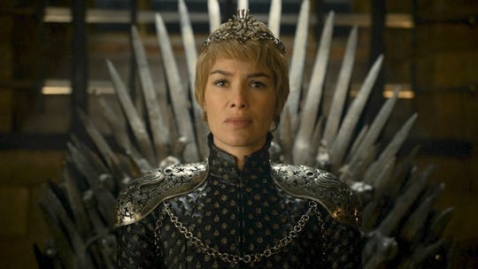 "Lena Headey as Cersei Lannister in ""The Winds of Winter"" episode of ""Game of Thrones""."
