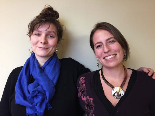 Josephine Ferorelli (left) and Meghan Kallman (right), who in 2014 founded the group Conceivable Future as a place where women and men could talk about concerns over having children given the threat they feel climate change poses to the world.