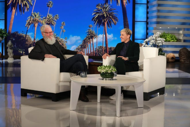 "David Letterman appears on ""The Ellen DeGeneres Show"" Thursday."