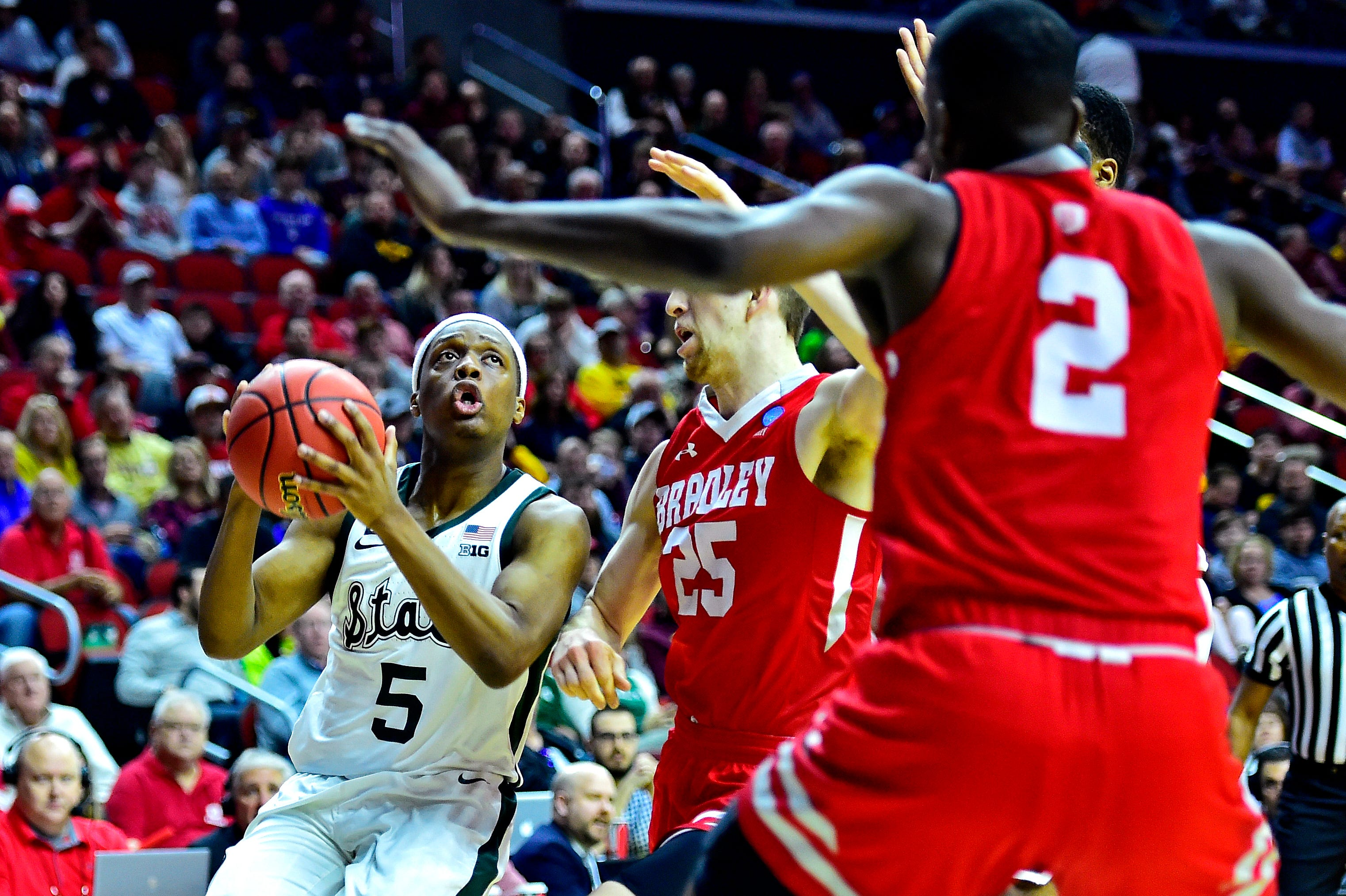 Bradley close with Michigan State and more NCAA tournament action in March Madness Day 1
