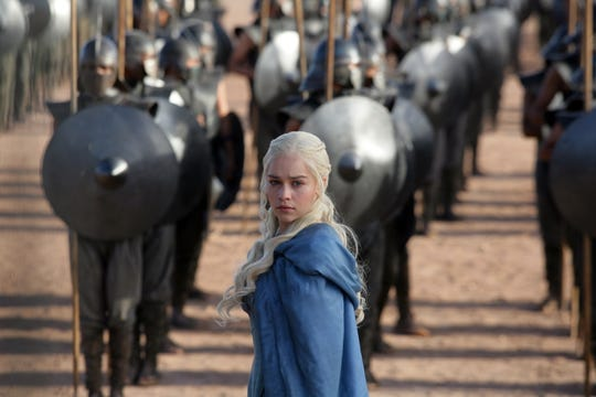 "Emilia Clarke as Daenerys Targaryen in the ""And Now His Watch Has Ended"" episode of  ""Game of Thrones."""