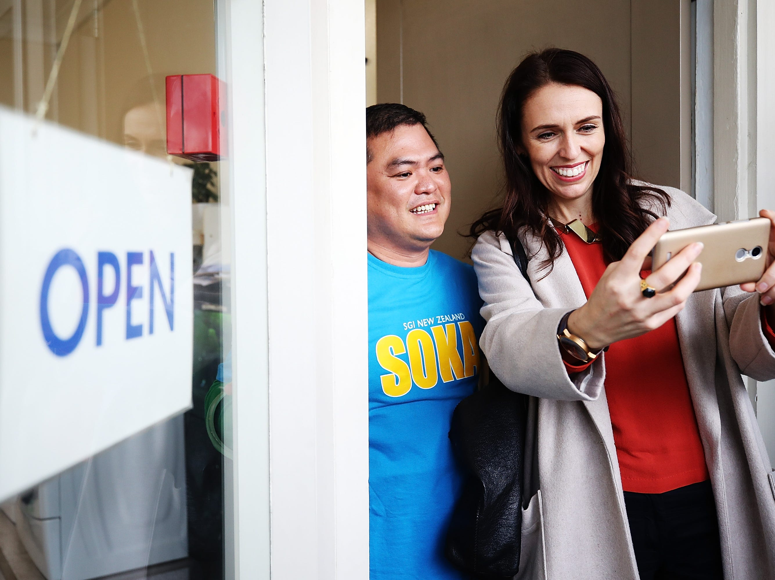 New Zealand Prime Minister Jacinda Ardern poses for photos at the Sandringham street festival on Oct. 28, 2017 in Auckland, New Zealand. Jacinda Ardern was sworn in as New Zealand's 20th Prime Minister on Thursday and is the country's youngest leader in more than 150 years.