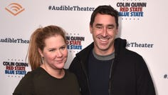 """Amy Schumer and Chris Fischer attend the Opening Night for Colin Quinn's """"Red State Blue State"""" on Jan. 22, 2019 in New York City."""