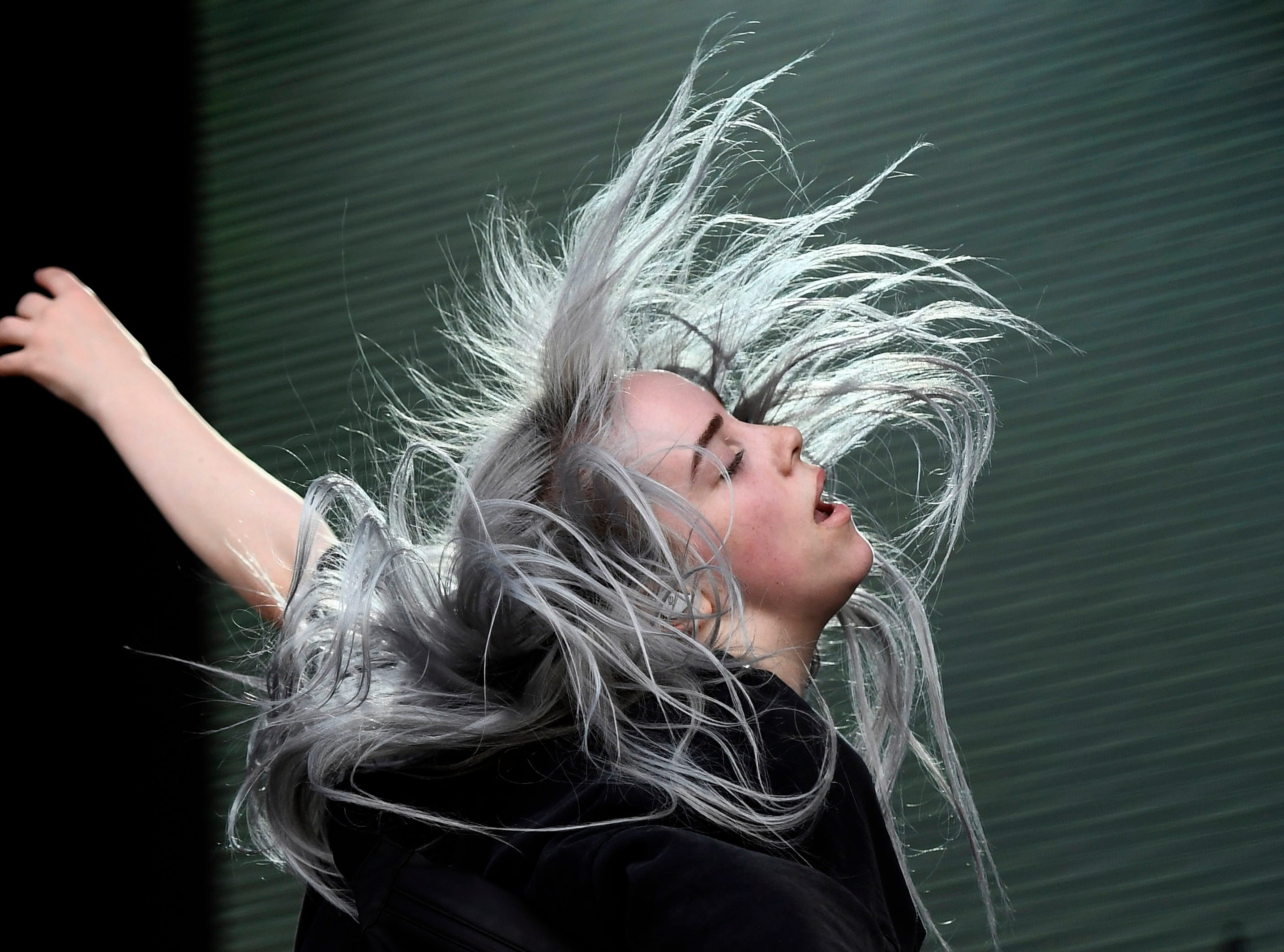 June 9, 2018; Manchester, TN, USA; Billie Eilish performs during the Bonnaroo Music and Arts Festival. Mandatory Credit: Brianna Paciorka/The Tennessean via USA TODAY NETWORK ORIG FILE ID:  20180609_ajw_usa_211.jpg