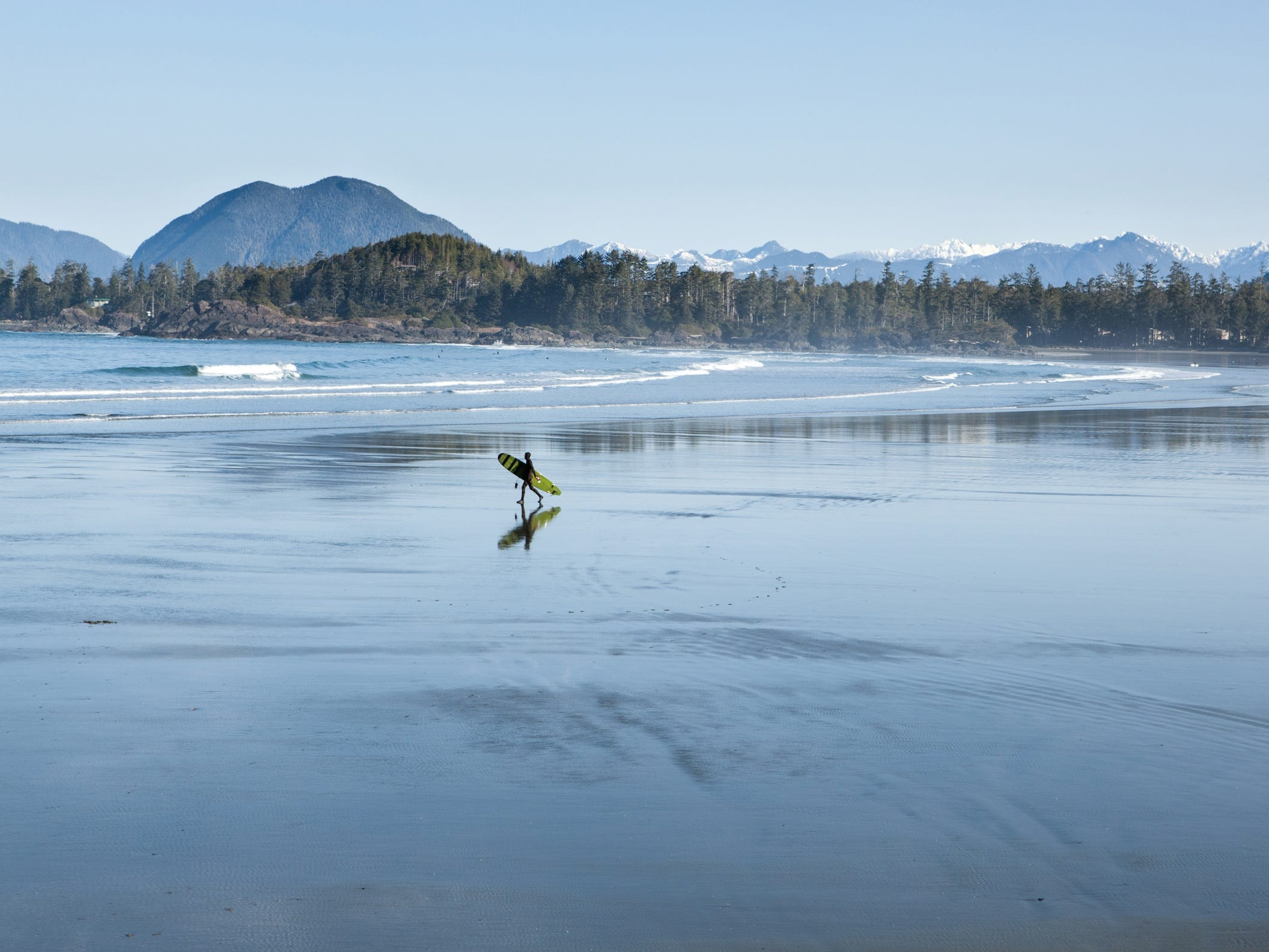 Tofino, Canada, on the west coast of Vancouver Island is considered the country's top spot to catch a wave.