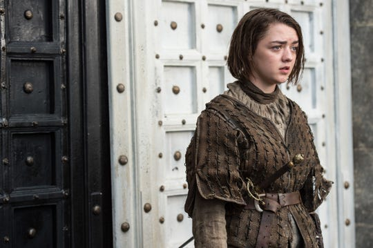 "Maisie Williams as Arya Stark in ""The House of Black and White"" episode of ""Game of Thrones."""