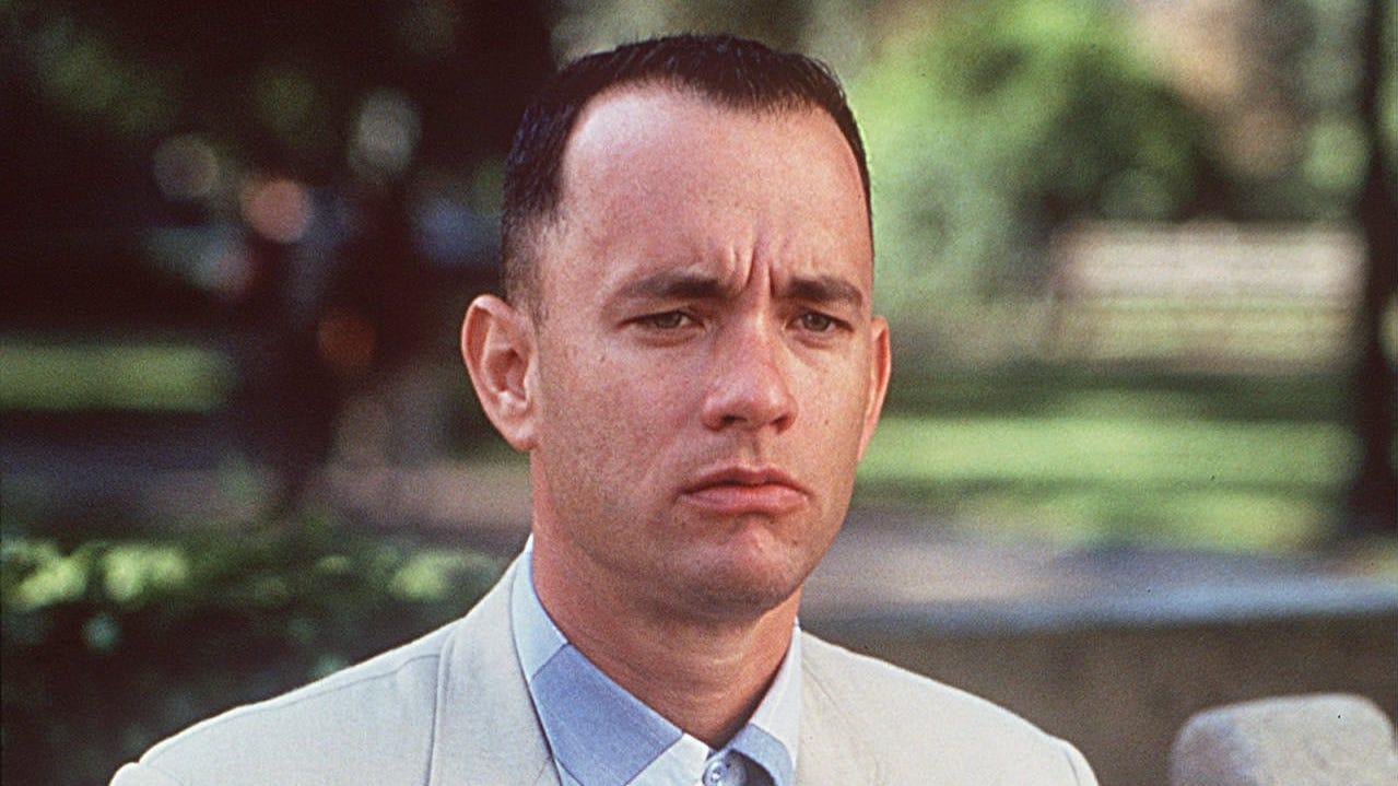 Tom Hanks as Forrest Gump.