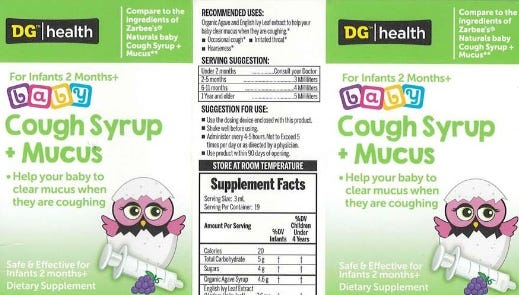 Baby cough syrup sold at Dollar General recalled after harmful bacteria discovered