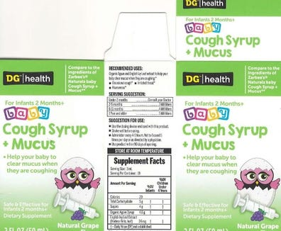 Kingtston Pharma is recalling Naturals  baby Cough Syrup + Mucus because it has the potential to cause vomiting and diarrhea.