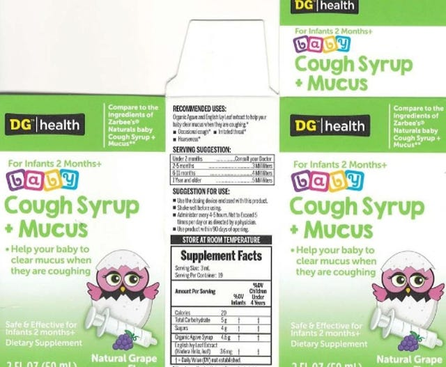 722a965c416 Kingtston Pharma is recalling Naturals baby Cough Syrup + Mucus because it  has the potential to
