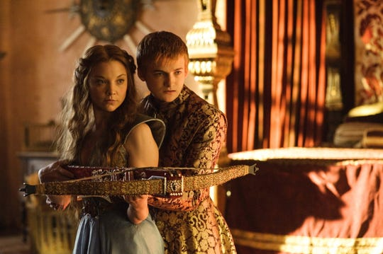 "Natalie Dormer as Margarey Tyrell, and Jack Gleeson as Joffrey Baratheon in the ""Game of Thrones"" episode ""Dark Wings, Dark Words."""