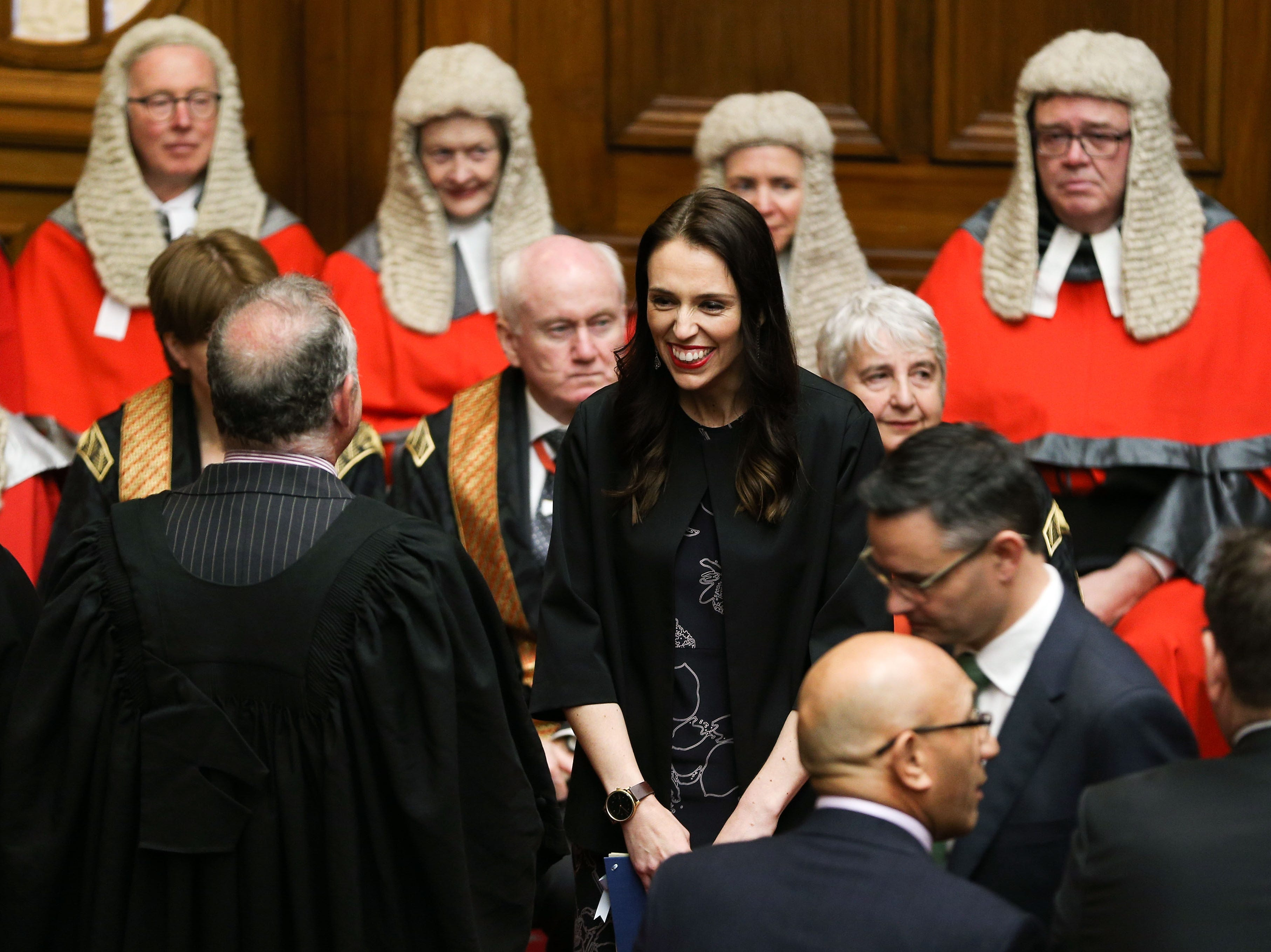 Prime Minister Jacinda Ardern enjoys a laugh during the State Opening of Parliament on Nov. 8, 2017 in Wellington, New Zealand. Labour leader Jacinda Ardern was sworn in on October 26, as the 40th Prime Minister of New Zealand.