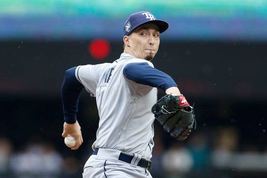 Rays left-hander Blake Snell led the American League last season with 21 wins and a 1.89 ERA.
