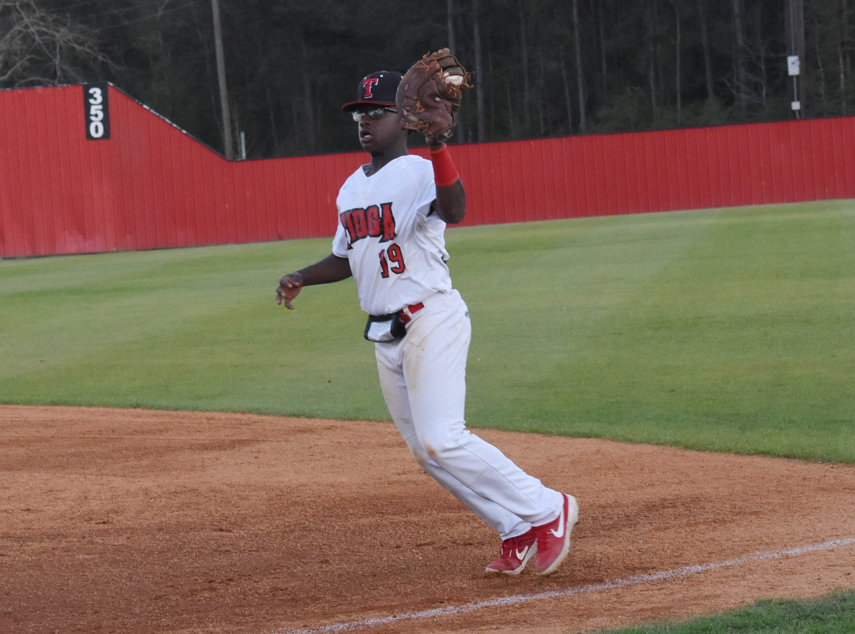 Tioga High School hosted Deridder High School Thursday, March 21, 2019. Tioga won 9-2.