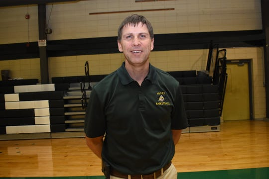 Mike Charrier, girls basketball coach at Hicks High School, is the All-Cenla coach of the year.