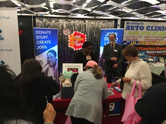 A The Price is Right-themed booth by Goodwill - West Texas at Business Expo in 2018.