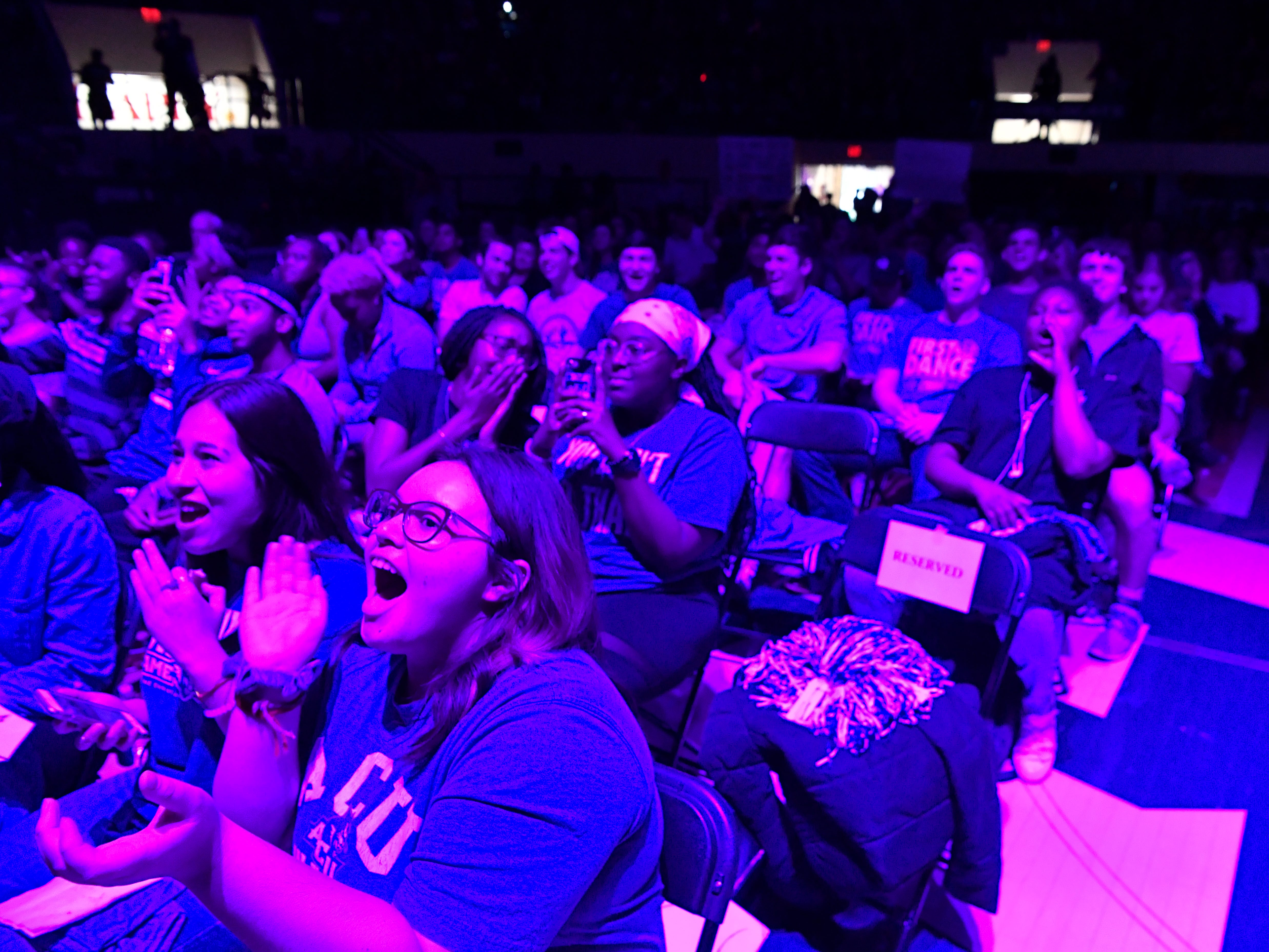 Abilene Christian University fans cheer on their Wildcats during a watch party at Moody Coliseum for the first round of the NCAA Men's Tournament Thursday March 21, 2019. ACU took on basketball powerhouse University of Kentucky, ending their first-ever trip to the tournament with a loss to UK, 79-44.