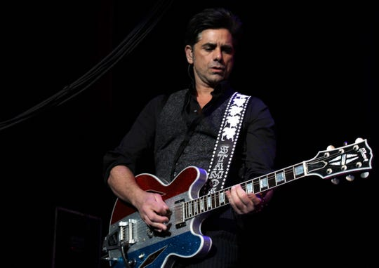 Actor John Stamos played guitar and drummed Thursday with the Beach Boys. He also was in Abilene for the group's 2016 show.