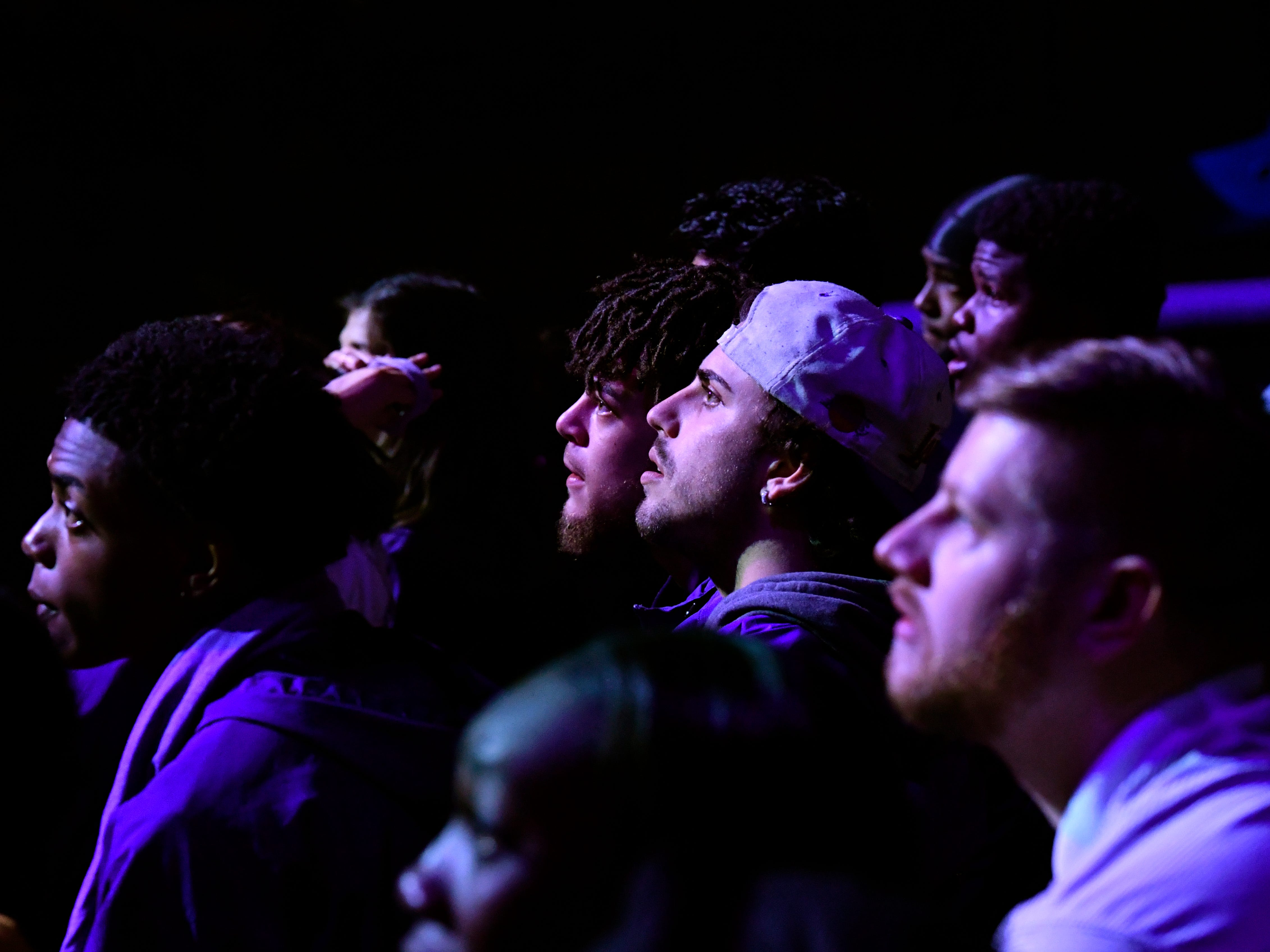 Fans watch the game between Abilene Christian University and the University of Kentucky during a watch party at Moody Coliseum Thursday March, 21, 2019. The game in Florida was ACU's first trip to the NCAA Tournament. Final score was 79-44, Kentucky.