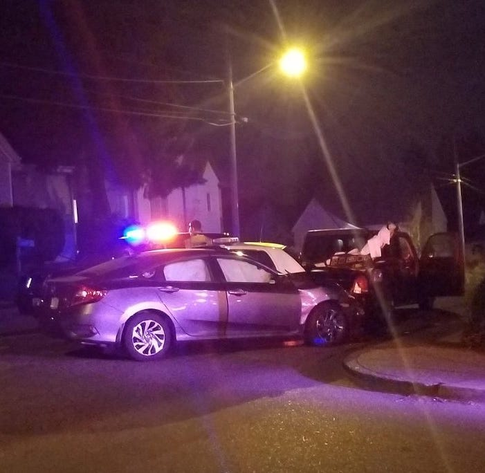 Car crashes into Bremerton police vehicle, gurney at medical scene