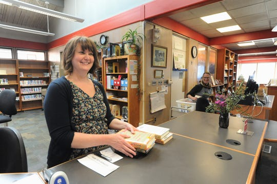 Melisa Pressley, branch manager of the Black Mountain-Tyson Library, introduced Winter Challenge Bingo in January. The program encourages visitors to explore more of the what the library has to offer.