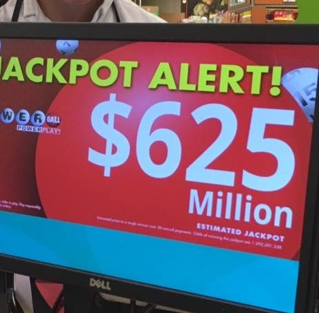 Powerball drawing Saturday is for a huge jackpot of $625 million