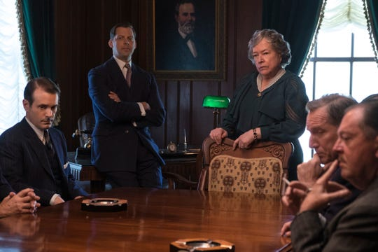 "Kathy Bates appears as Texas Gov. Miriam ""Ma"" Ferguson in the Netflix film ""The Highwaymen,"" written by John Fusco of Morristown."