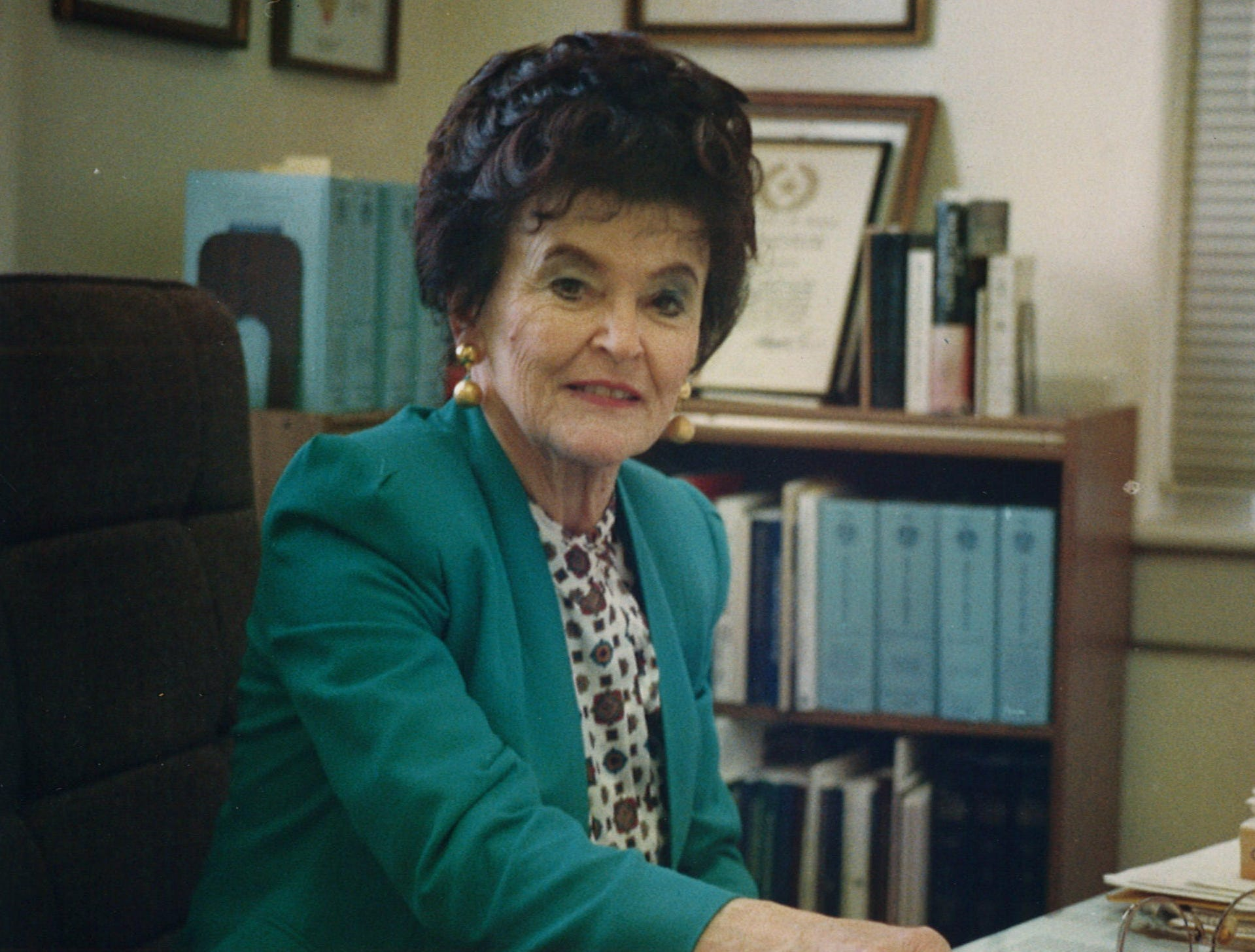 Rachel Littlejohn was elected to the 156th District Court, which serves Aransas, Bee, Live Oak, McMullen and San Patricio, in November 1974. This photo was taken in November 1993. She retired from the bench in 1994.