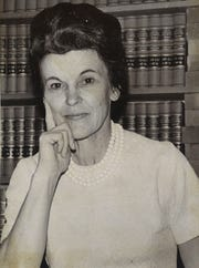 Winifred Rachel Littlejohn won the Democratic primary against W.B. Moser in 1974 for the 156th District Judge seat. She had no Republican opponent and was sworn in to office in January 1975. She was the first female district judge in South Texas.