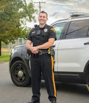 Evesham police officer Jared Halpern was named Officer of the Month for February after helping save a suicidal man's life.