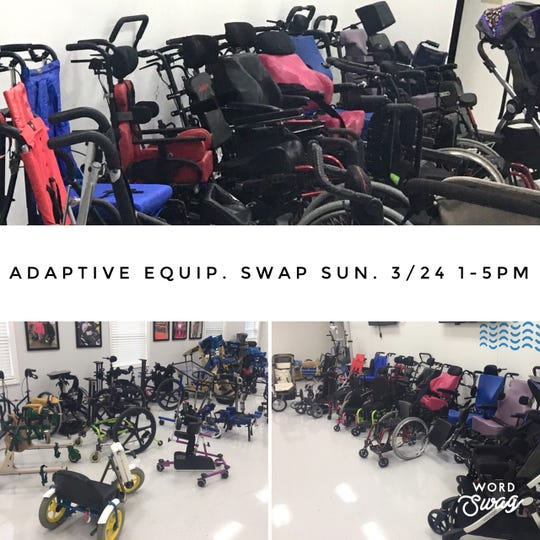 Equipment is pouring in for the March 24 May We Help  Adaptive Equipment Swap being held at 7501 Wooster Pike.